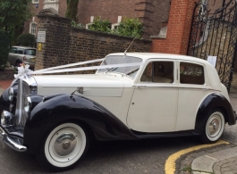 Classic Bentley MKV1 for wedding hire in London